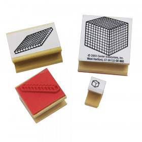 Base 10 Block Stamps, Set of 4