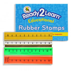 Number Line Stamps, Set of 4