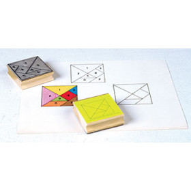 Tangram Stamps Set Of 2