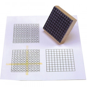 Stamp Multiplication Chart 3-3/4 X 3-3/4