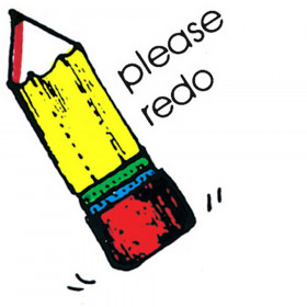 Stamp Please Redo Pencil