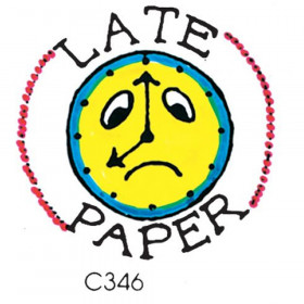 Stamp Late Paper Clock