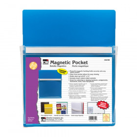 "Magnetic Pocket - 9-1/2"" w x 11-3/4"" h, Blue, 1 Each"