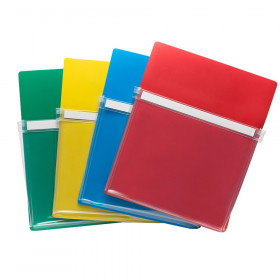 """Magnetic Pockets, 9.5""""W x 11.75""""H, 4 Assorted Colors Per Pack"""