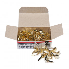 Fasteners, Round Head, Brass Plated, 1/2 Inch Shank, 8 mm Head, 100/Pack