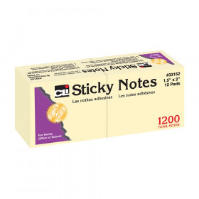 "Sticky Notes, 1 1/2"" x 2"" Plain"
