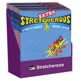 Extra Stretcheroos Bookcovers, Assorted Colors, Set of 36