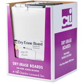 Dry Erase Boards, Framed with Markers & Eraser, White, Pack of 12