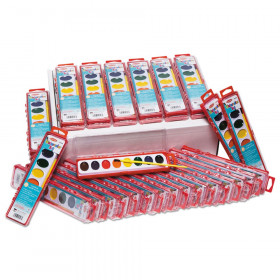 8 Asst Water Color Paint Set 36/St Classpack