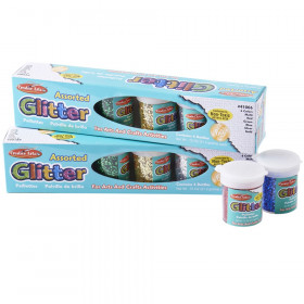 Creative Arts by Charles Leonard Glitter, Assorted Colors, .75 oz. Shakers, Pack of 12