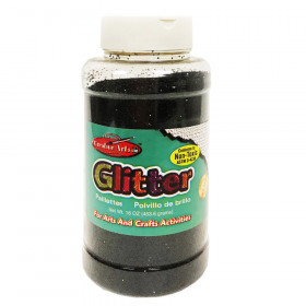 Creative Arts Creative Arts Glitter, 1 lb. Can, Black