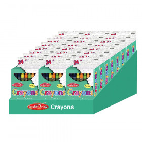 Creative Arts Crayons - Assorted Colors - 24/Bx, 24 boxes with a Shelf Tray