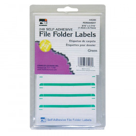 File Folder Labels, Green