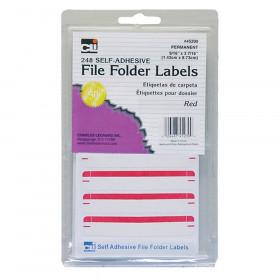 File Folder Labels Red