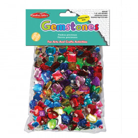 Creative Arts Gemstones Assorted Styles and Colors, 1 Pound Bag
