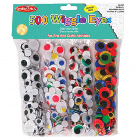 Creative Arts Wiggle Eyes Classpack, Assorted Sizes & Colors, Pack of 500
