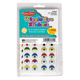 Wiggle Eyes Stickers Asstd Colors