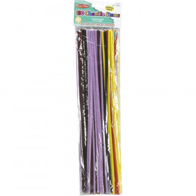 """Chenille Stems - 4 mm/12"""" - Assorted Colors - 100/bag"""