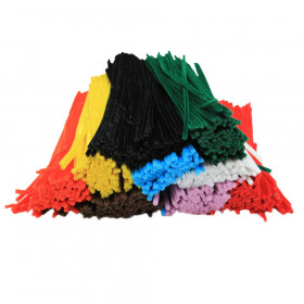 "Chenille 12"" Stems, Assorted Colors, Pack of 1000"