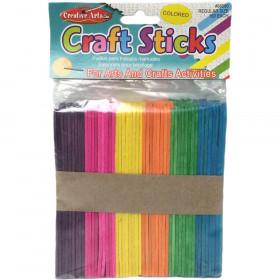 "Creative Arts Craft Sticks - Regular Size - Colored - 4 1/2"" X 3/8"" - 150/Bg"