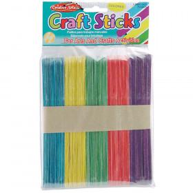 Craft Sticks Jumbo Colored 75/Pk
