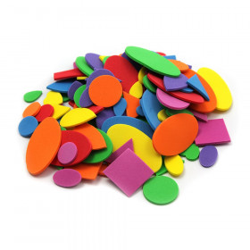 Creative Arts by Charles Leonard Foam Shapes, Assorted Colors, 264 Pieces/Bag