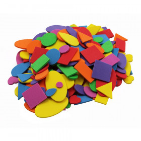 Creative Arts by Charles Leonard Foam Shapes, Assorted Colors, 720 Pieces/Bag