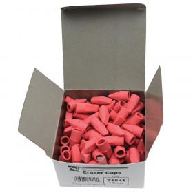 Pencil Eraser Caps, Pink, 144/Box