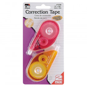 "Correction Tape - Assorted Colors - 1/5"" X 394"" - 2/Cd"
