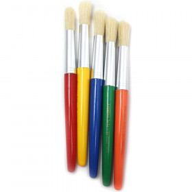 Brushes - Stubby Round - Rd Yl Bl Gr Or - 5/Set