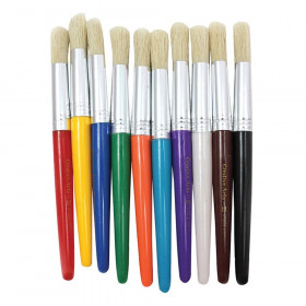 Brushes - Stubby Round - Gr.Bk.Bl. Rd.Tl.Or.Pu.Yl.