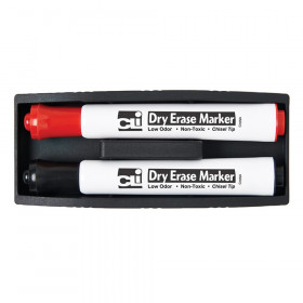Eraser - Whiteboard - Magnetic w/ Two Markers