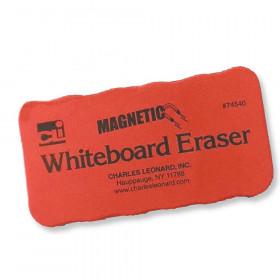 Magnetic Whiteboard Eraser, Red/Black, 12 Per Pack