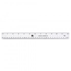 Plastic Ruler, Double Bevel, 12 Inches, Clear