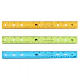 "Translucent 12"" Plastic Ruler, Assorted Colors"