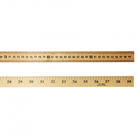 Wooden Meter Stick Ruler, Natural Wood, 36 Inches
