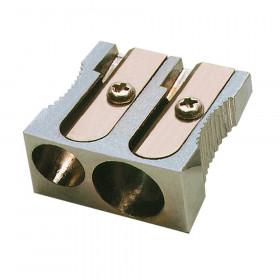 Metal Pencil Sharpener, Two Hole, 1 Sharpener