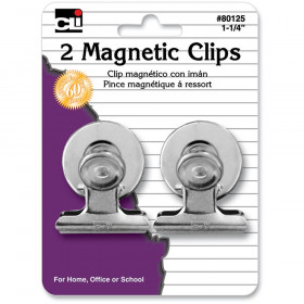 """Clips - Spring - Magnetic - 1-1/4"""" - 2/Cd"""