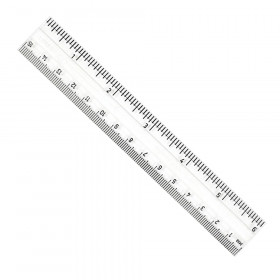 "Clear Plastic 6"" Ruler Inches/Metric"