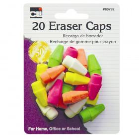 Eraser - Caps - Neon - Asst. - 20/Cd
