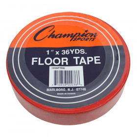 "Floor Marking Tape, 1"" x 36 yd, Red"