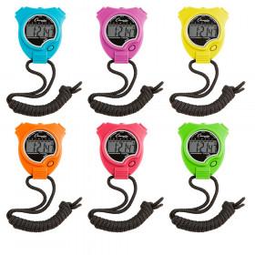 Stop Watch, Neon Colors, Set of 6
