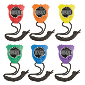 Stop Watch, Assorted Colors, Pack of 6