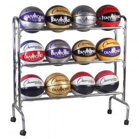 Portable Ball Rack 3 Tier Holds 12 Balls