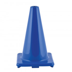 "Hi-Visibility Flexible Vinyl Cone, weighted, 12"", Royal Blue"