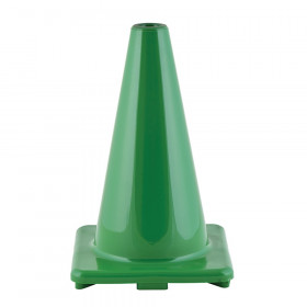 "Hi-Visibility Flexible Vinyl Cone, weighted, 12"", Green"