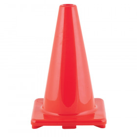 "Hi-Visibility Flexible Vinyl Cone, weighted, 12"",Orange"