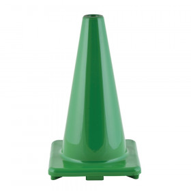 "Hi-Visibility Flexible Vinyl Cone, weighted, 18"", Green"