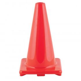 "Hi-Visibility Flexible Vinyl Cone, Weighted, Orange, 18"" Length"