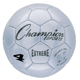 Extreme Soccer Ball, Size 4, Silver